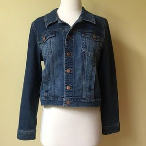 Eileen Fisher Organic Cotton Fitted Jean Jacket